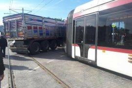 Samsun'da tramvay kazası