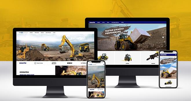 Komatsu ve Temsa İş Makinaları web siteleri kullanıcı dostu yeni yüzleriyle yayında