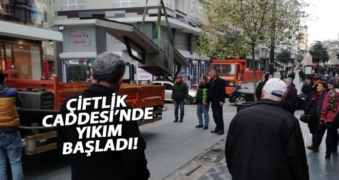 Samsun'un Çiftlik Caddesi trafiğe açılması için inşaat çalışmaları başladı!