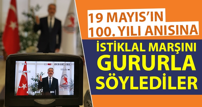 100. Yıl Anısına İstiklal Marşını Gururla Söylediler
