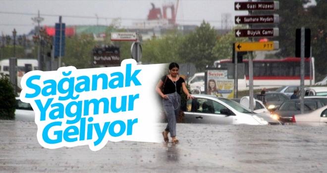 Samsun ve çevre illere sağanak yağış uyarısı..!