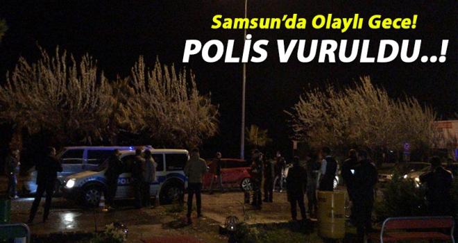 Atakum'da polis memuru vuruldu..!