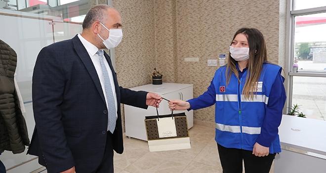 Canik Belediye Başkanı İbrahim Sandıkçı Belediye Personelinin Bayramını Kutladı
