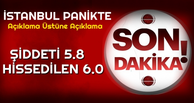 Son dakika: İstanbul depremlerle sallanıyor! İstanbul'da büyük deprem sonrası Valilik açıklaması…