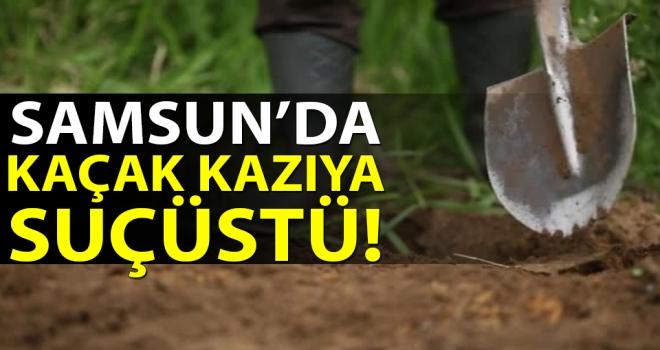 Samsun'da Kaçak Kazıya Suçüstü