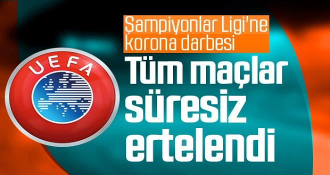 UEFA'da Korono virüs darbesi