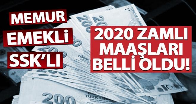 2020 Zamlı maaşlar belli oldu! Kim ne kadar alacak?