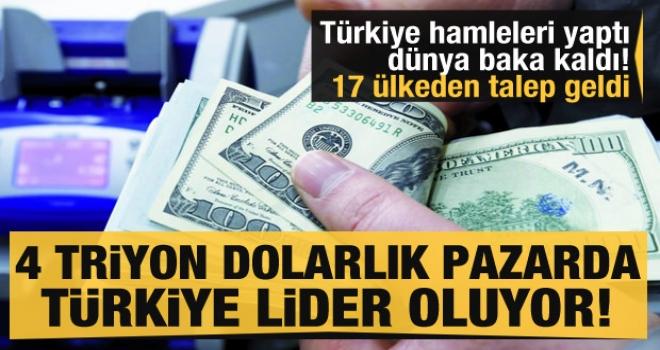 4 trilyon dolarlık piyasada Türkiye lider ülke oluyor