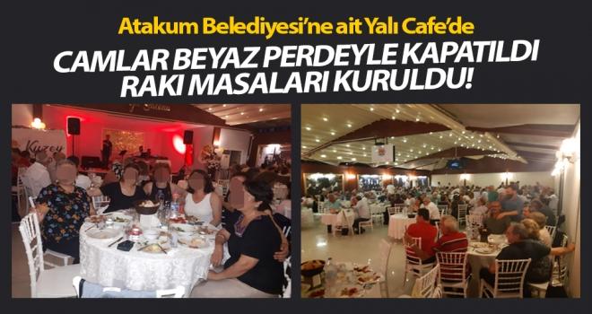 Atakum Belediyesi'ne ait tesiste içkili toplantı..!