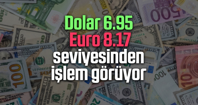 Dolar 6.95, Euro 8.17 seviyesinden İşlem Görüyor