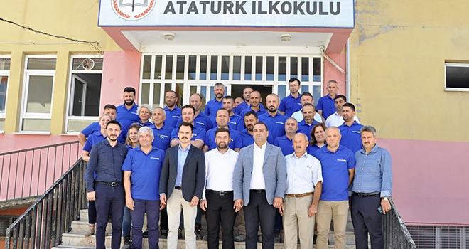 Ladik Atatürk İlköğretim Okulu'na renk kattı!