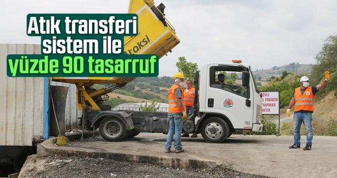 Atık Transferi Sistemi ile Atakum Belediyesi'nde yüzde 90 tasarruf