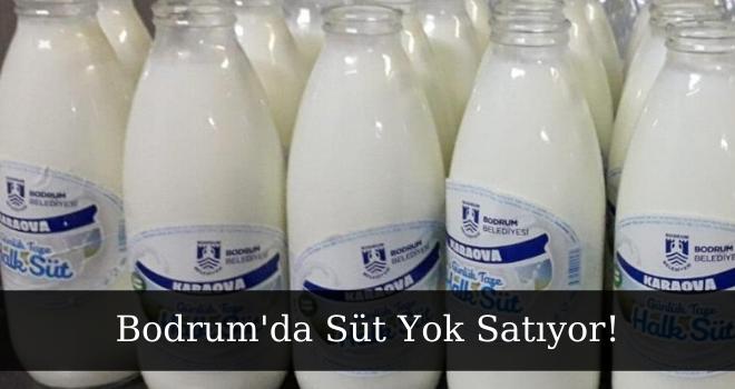 Bodrum Da Süt Yok Satıyor!