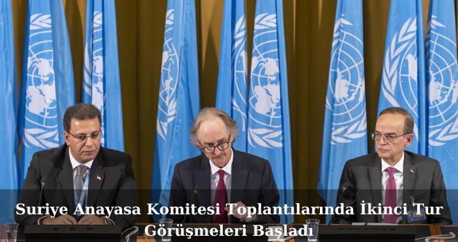 Suriye Anayasa Komitesi Toplantılarında İkinci Tur Görüşmeleri Başladı