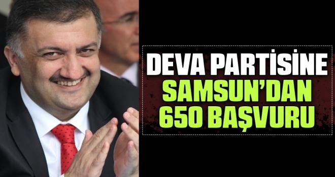 DEVA Partisine Samsun'dan 650 Başvuru