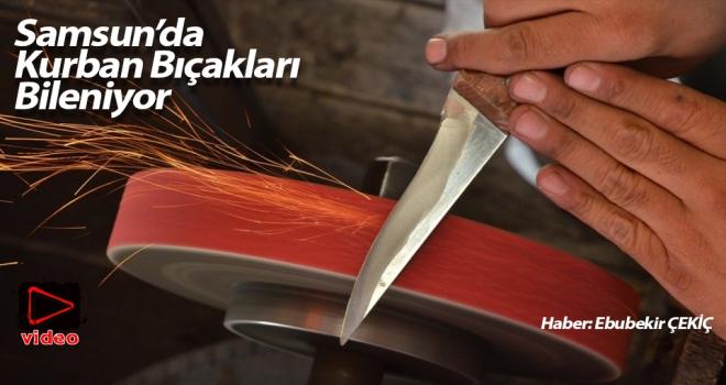 Samsun'da Kurban Bayramı Öncesi Bıçakları Bileniyor