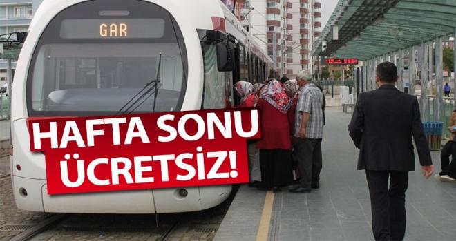 Samsun'da haftasonu ulaşım ücretsiz