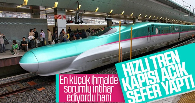 Japonya'da Hızlı Tren Kapısı Açık Gitti