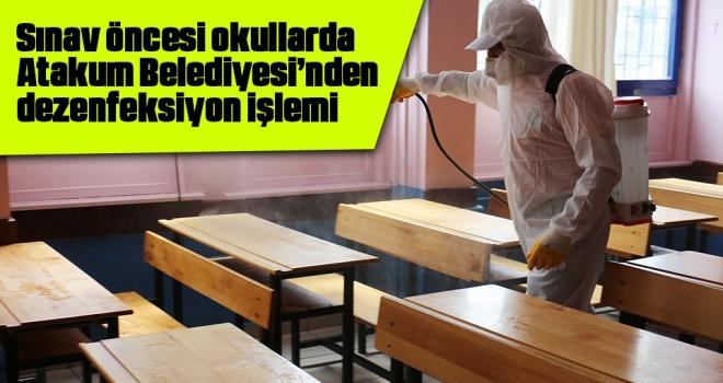 Sınav Öncesi Okullarda Atakum Belediyesi'nden Dezenfeksiyon İşlemi