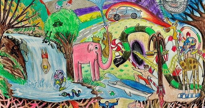 Çocukların hayalleri renklerle hayat buldu