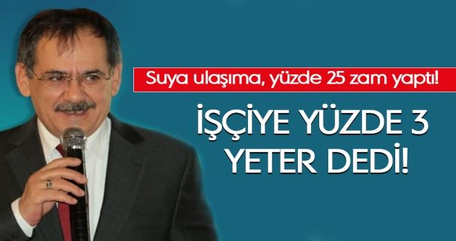 Samsun Büyükşehir'de işçiye yüzde 3 zam...