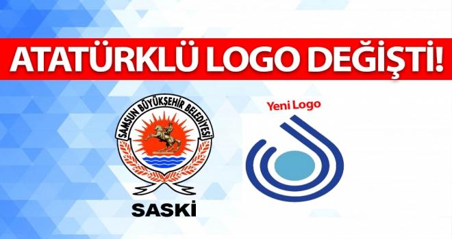 SASKİ Atatürklü logoyu değiştirdi