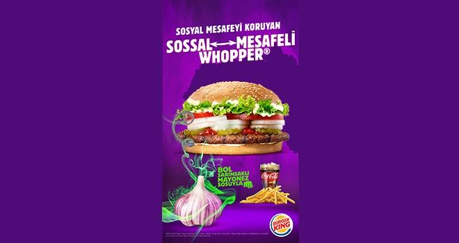 Burger King Sosyal Mesafeyi Sosyal Mesafeli Whopper ile Koruyor