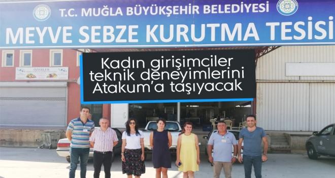 Atakum Belediyesi'nin öncülük ettiği kadın girişimcilerden teknik gezi