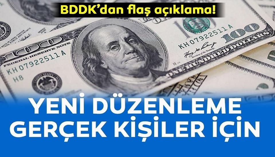 BDDK'dan flaş açıklama..!