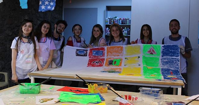 TEGV'li Çocuklar ve Gönüllüler Baksı Müzesi'nde Sanatla Buluştu