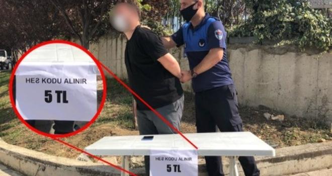 Samsun'da HES Kodunu Parayla Satarken Yakalandı