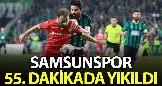 Samsunspor 55. dakikada yıkıldı