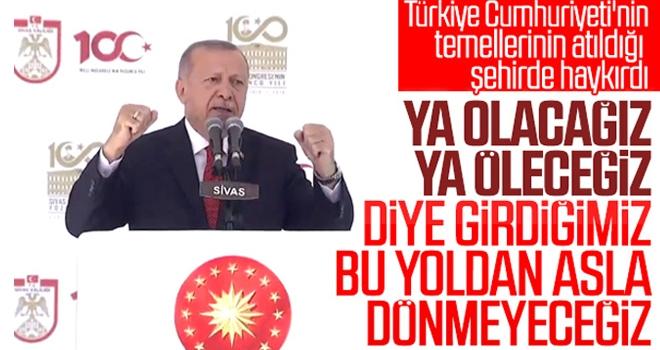 Cumhurbaşkanı Erdoğan Sivas'taki Kutlama Programında Konuştu