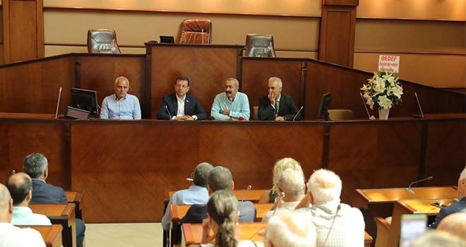 İBB Meclis Salonu'nda Tebrik Ziyareti