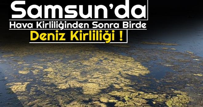 Samsun'da Hava Kirliliğinden Sonra Birde Deniz Kirliliği