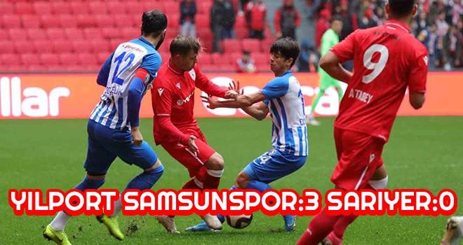 Yılport Samsunspor - Sarıyer: 3-0