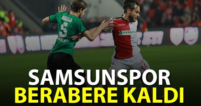 Samsunspor - Sakaryaspor: 0-0 (Maç sonucu)
